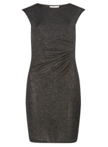 Dorothy Perkins Billie and Blossom Petite Pleated Glitter Bodycon