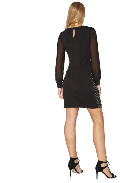 Dorothy Perkins Billie Black Label Gunmetal Sequin Shift Dress