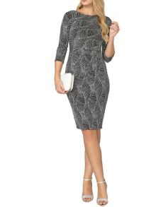 Dorothy Perkins Billie Black Label Glitter Bodycon Dress