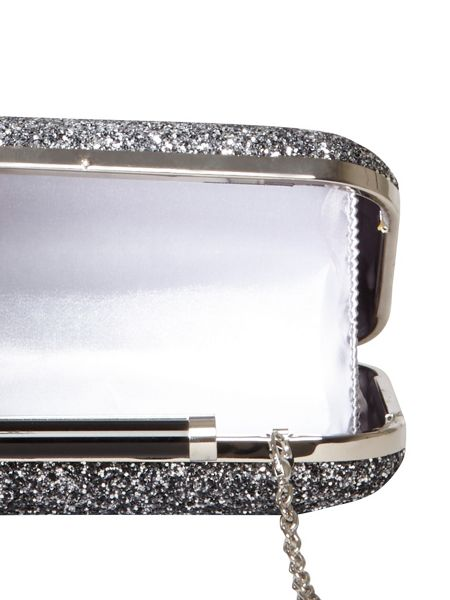 Dorothy Perkins Glitter Roll Bar Clutch Bag