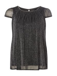 Dorothy Perkins Billie Black Label Shimmer Shell Top