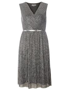 Dorothy Perkins Billie Black Label Mesh Plisse Dress