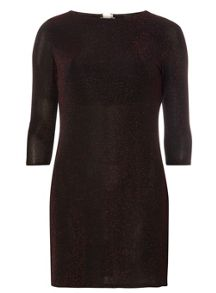 Dorothy Perkins Billie Black Label Petite Glitter Shift Dress