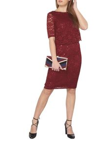 Dorothy Perkins Billie and Blossom Petite Lace Popover Dress