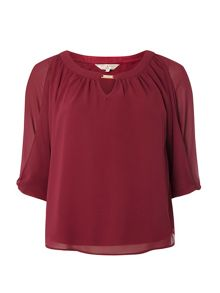 Dorothy Perkins Billie and Blossom Petite Trim Blouse