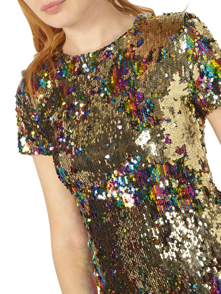 Dorothy Perkins Multi Coloured Sequin Dress