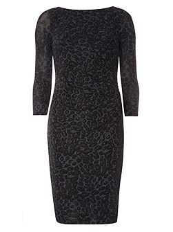 Billie Black Label Jacquard Bodycon Dress
