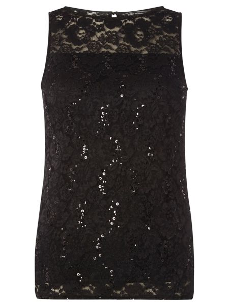 Dorothy Perkins Billie Black Label Lace Shell Top