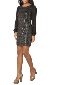 Dorothy Perkins Billie Black Label Sequin Shift Dress