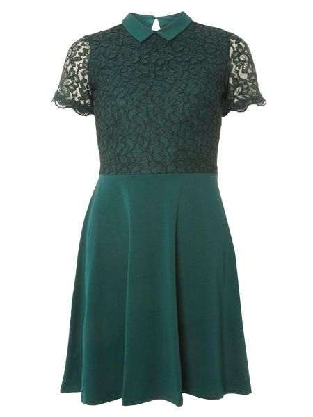 Dorothy Perkins Lace Collared Dress
