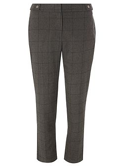 Window Check Ankle Grazer Trousers