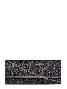 Dorothy Perkins Glitter Structured Clutch Bag