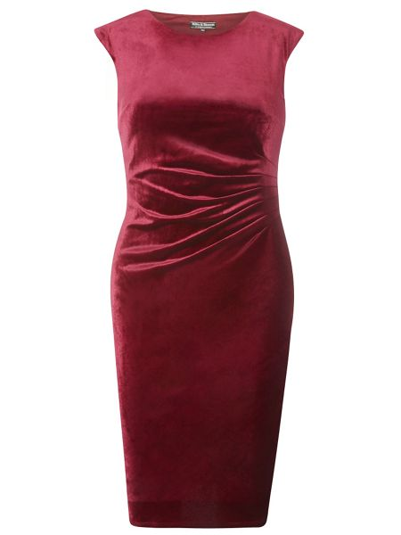 Dorothy Perkins Billie Black Label Velour Bodycon Dress