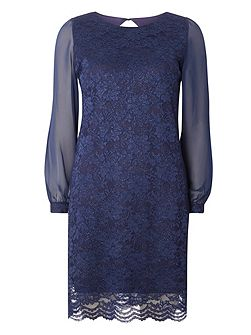 Billie and Blossom Lace Sequin Shift Dress