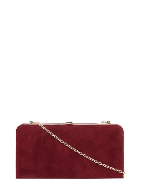 Dorothy Perkins Faux Suede Box Clutch Bag