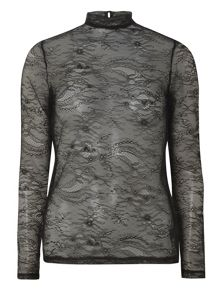 Dorothy Perkins Lace Roll Neck Top