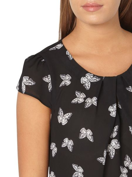 Dorothy Perkins Billie and Blossom Petite Butterfly Shell Top
