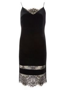 Dorothy Perkins Petite Velvet Slip Dress