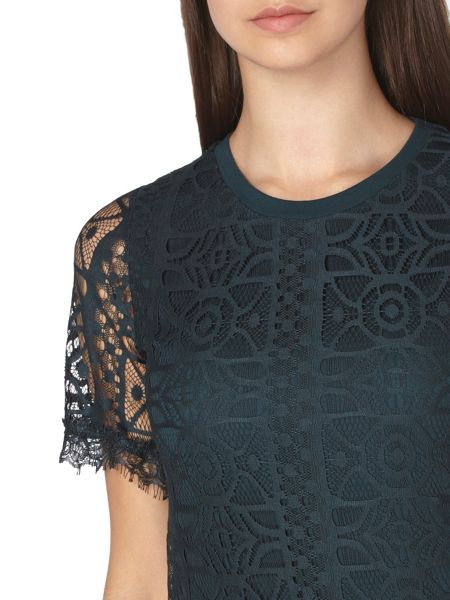 Dorothy Perkins Tall Geo Lace Top