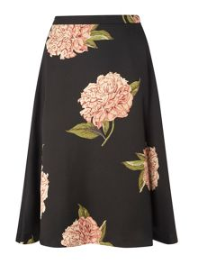 Dorothy Perkins Floral Satin Full Skirt