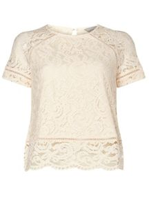 Dorothy Perkins Petite Lace T-Shirt