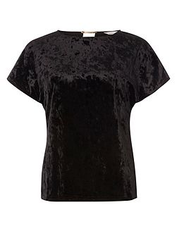 Petite Velvet Bar Back T-Shirt
