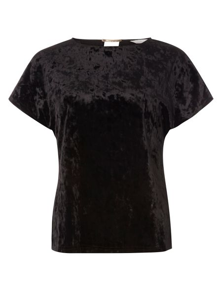 Dorothy Perkins Petite Velvet Bar Back T-Shirt