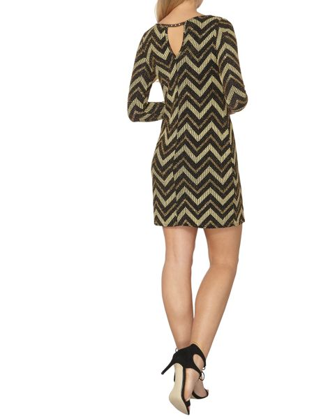 Dorothy Perkins Chevron Stripe Shift Dress