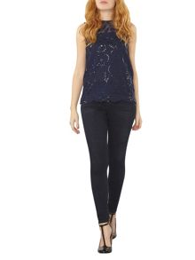 Dorothy Perkins Sequin Lace Top