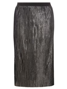 Dorothy Perkins Chain Pleated Midi Skirt
