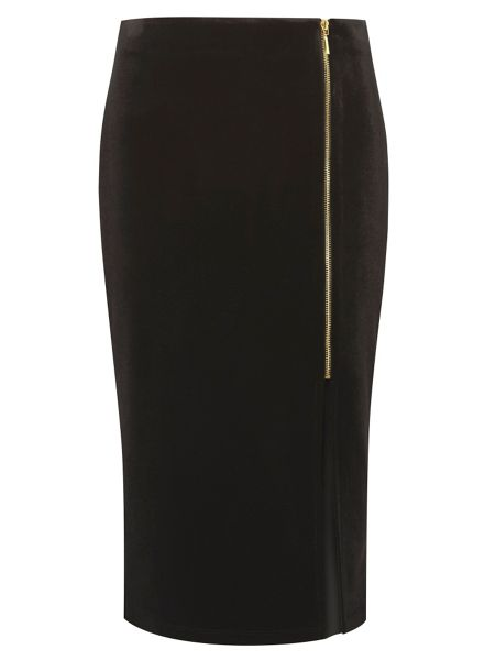 Dorothy Perkins Velvet Pencil Skirt
