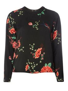 Dorothy Perkins Printed Wrap Back Top