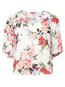 Dorothy Perkins Billie and Blossom Petite Printed Bubble Hem Top