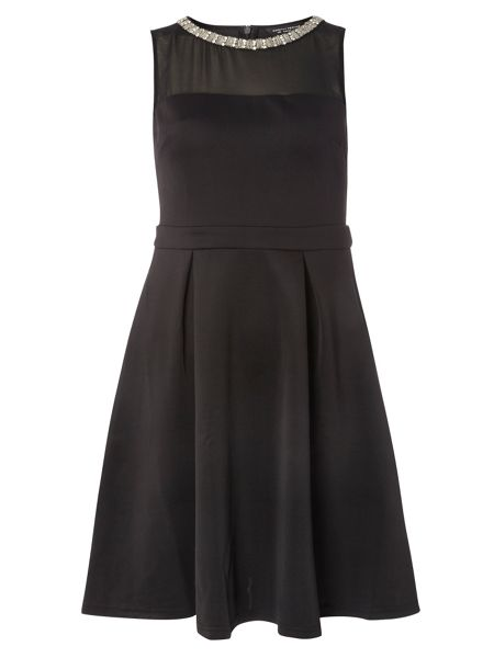 Dorothy Perkins Embellished Fit and Flare Dress