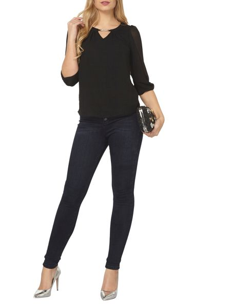 Dorothy Perkins Billie Black Label Trim Bubble Blouse