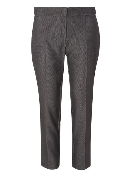 Dorothy Perkins Hexagon Textured Ankle Grazer Trousers