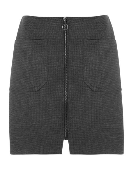 Dorothy Perkins Dogstooth A-Line Zip Skirt