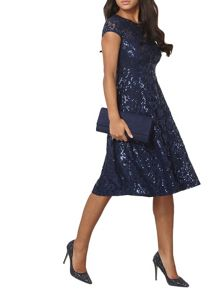 Dorothy Perkins Sequin Lace Midi Dress