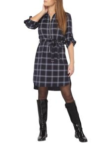 Dorothy Perkins Petite Zip Shirt Dress