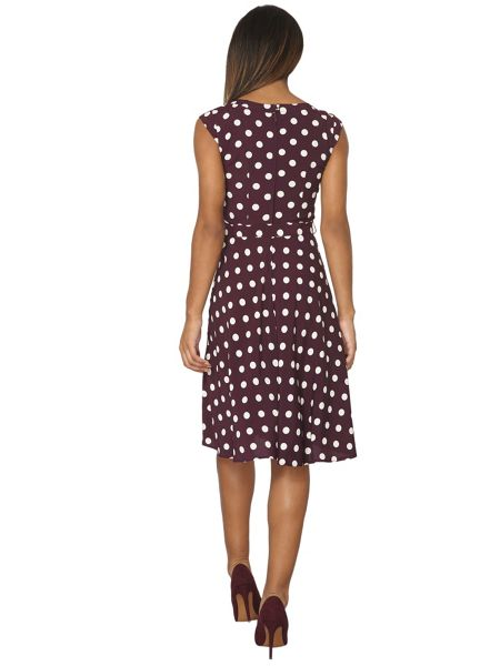 Dorothy Perkins Billie and Blossom Spotted Viscose Dress