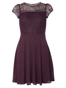 Dorothy Perkins Billie and Blossom Damson Lace Insert Dress