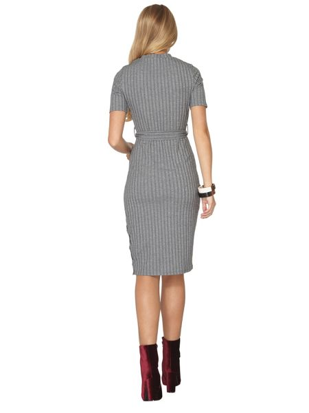 Dorothy Perkins Tall Belted Rib Bodycon Dress
