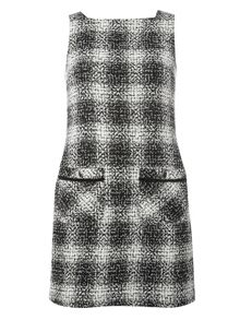 Dorothy Perkins Petite Monochrome Check Shift Dress