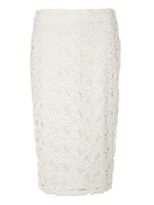 Dorothy Perkins Lace Contrast Pencil Skirt