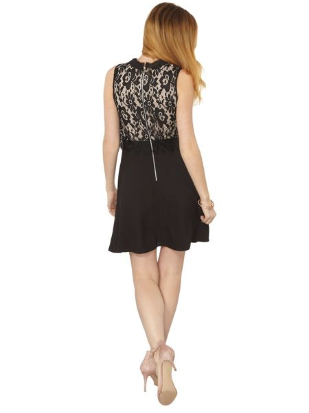 Dorothy Perkins Lace Collar Fit and Flare Dress