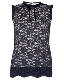 Dorothy Perkins Tie Neck Lace Top