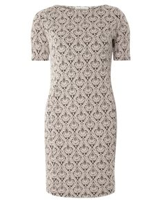 Dorothy Perkins Billie and Blossom Jacquard Dress