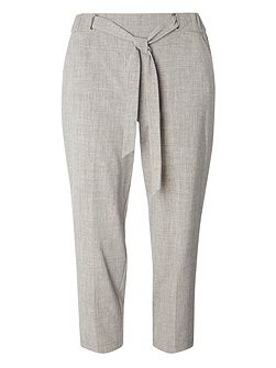 Petite Textured Trousers