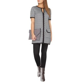 Dorothy Perkins Billie and Blossom Petite Mono Jacquard Tunic