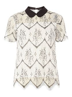 Jersey with Ivory Collar Top